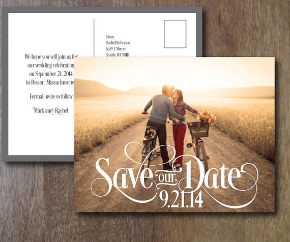 Save the date wedding announcements with photos