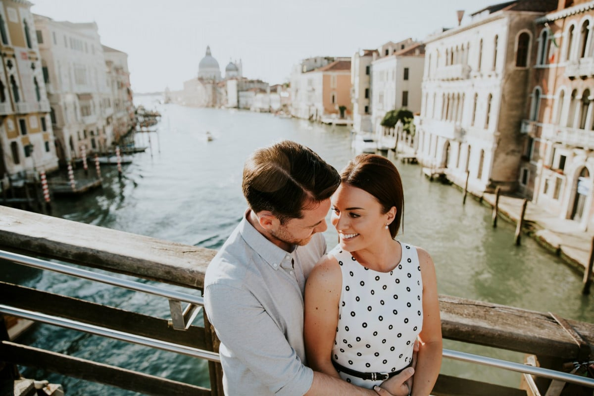 Sunrise engagement session Venice Italy
