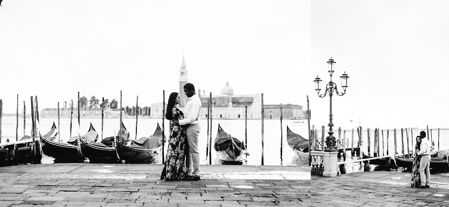 Honeymoon photo session in Venice Black and White