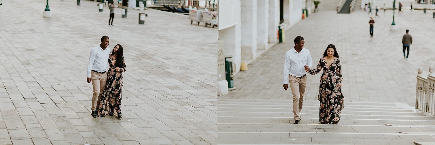 walking in Venice for Honeymoon photo session