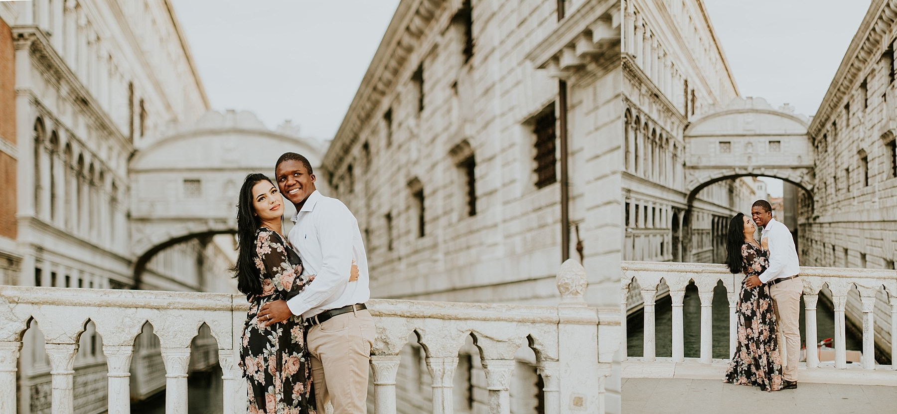 bridge of sighs Honeymoon photo session in Venice